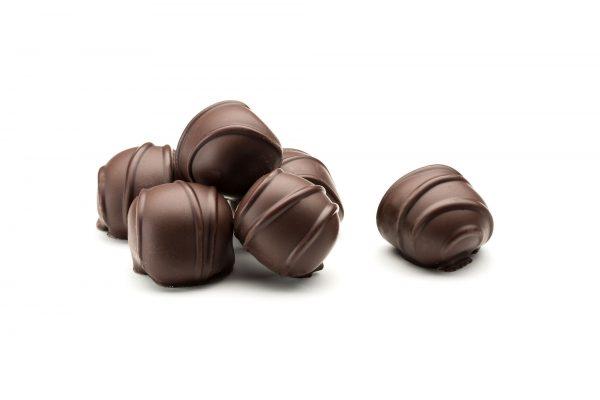 hand dipped stem gingers in dark chocolate