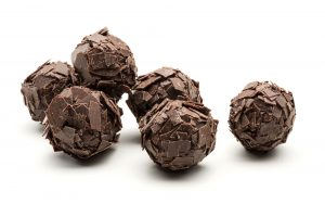 Rich dark chocolate truffle