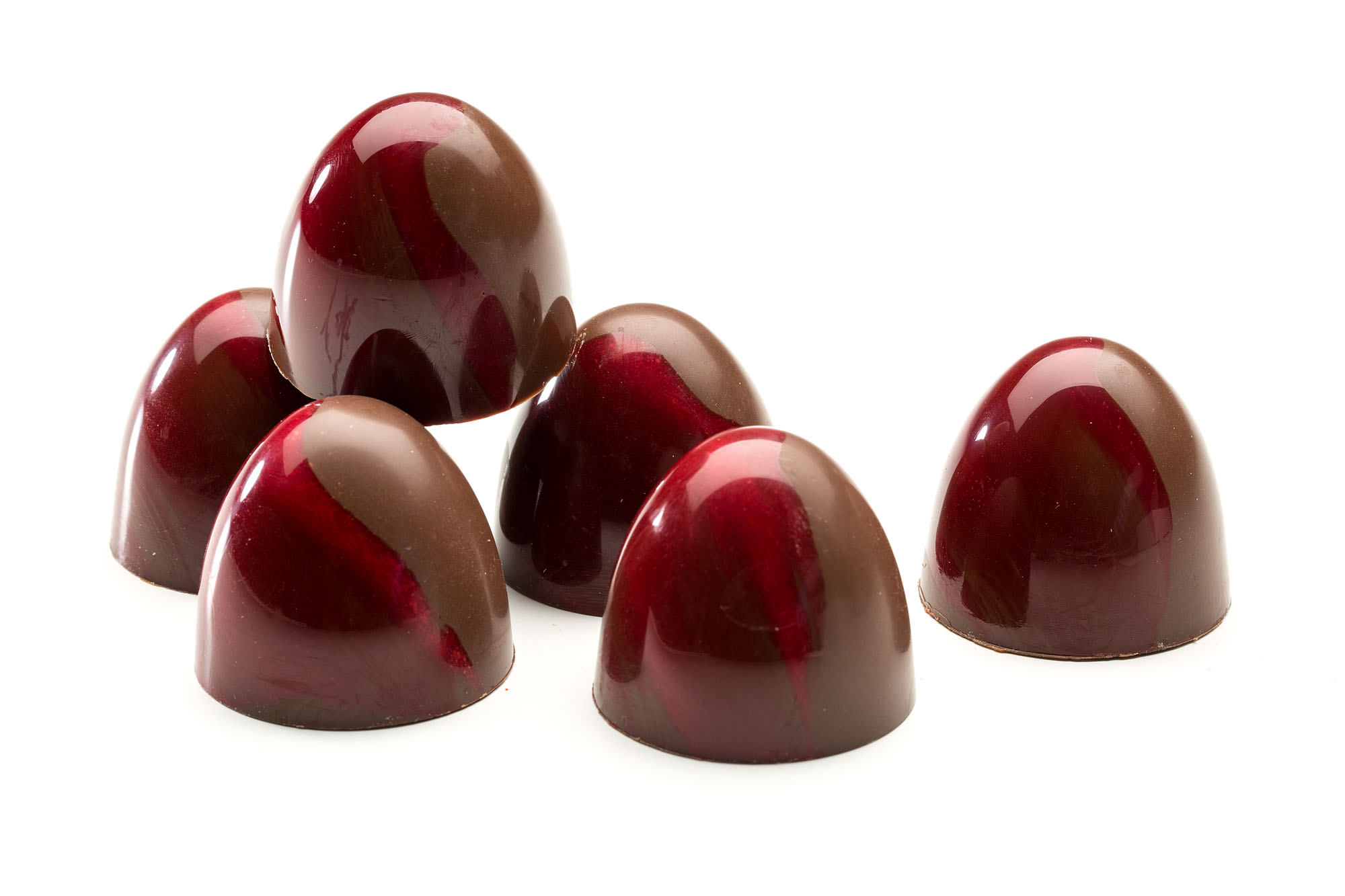 crunchy peanut butter ganache and sweet strawberry jam layer in a milk chocolate shell