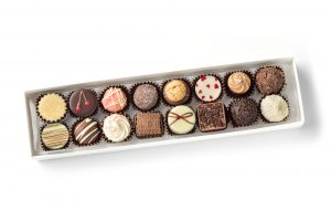 chocolate truffles, creams and pralines