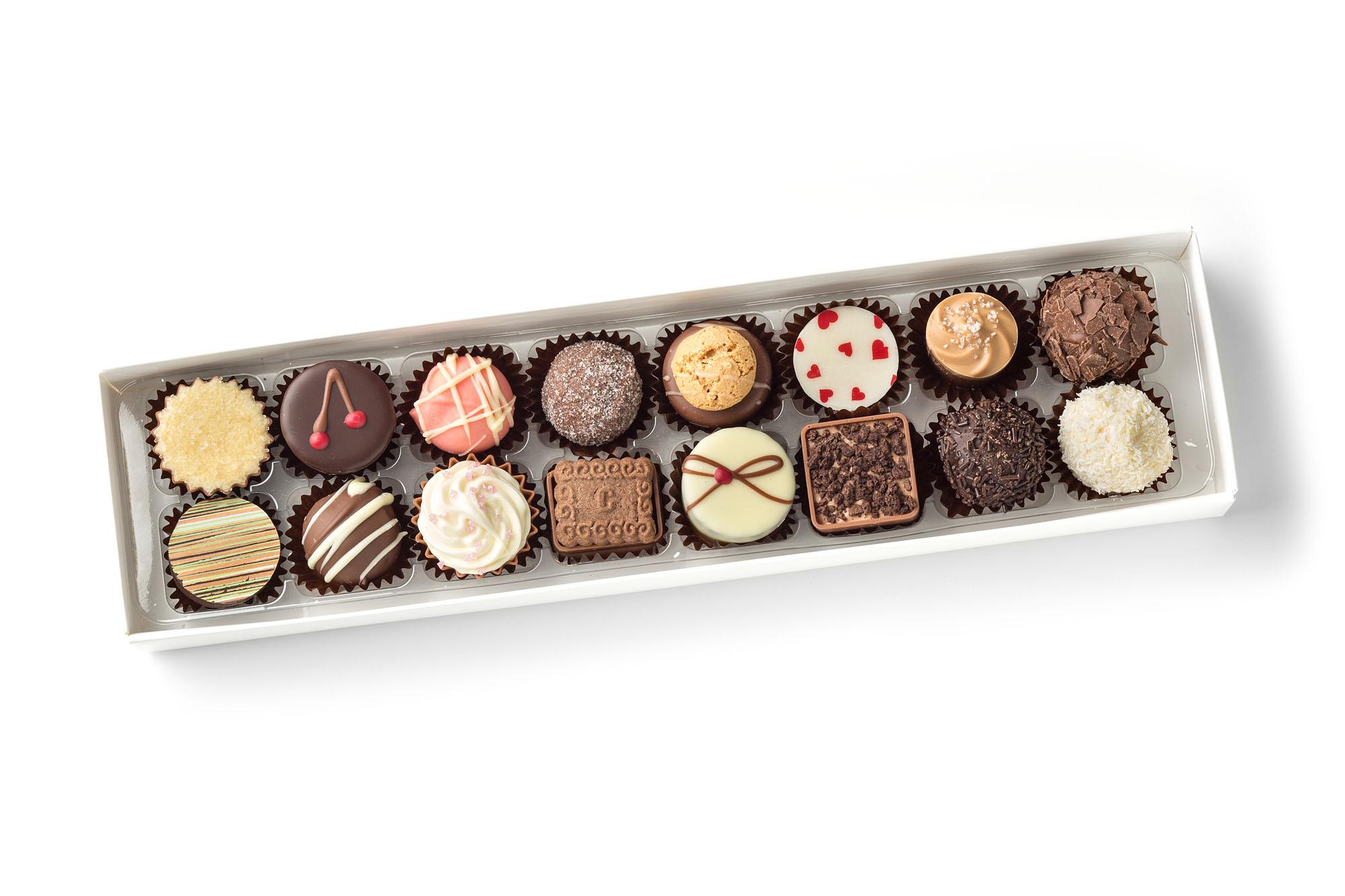 chocolate truffles, creams and pralines