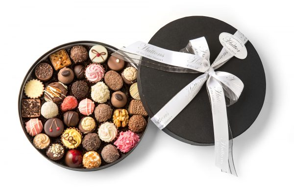 a selection of creams, truffles and pralines