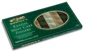 Romneys kendal mint cake selection, white, brown and chocolate covered