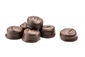 Hand dipped lime creams in dark chocolate