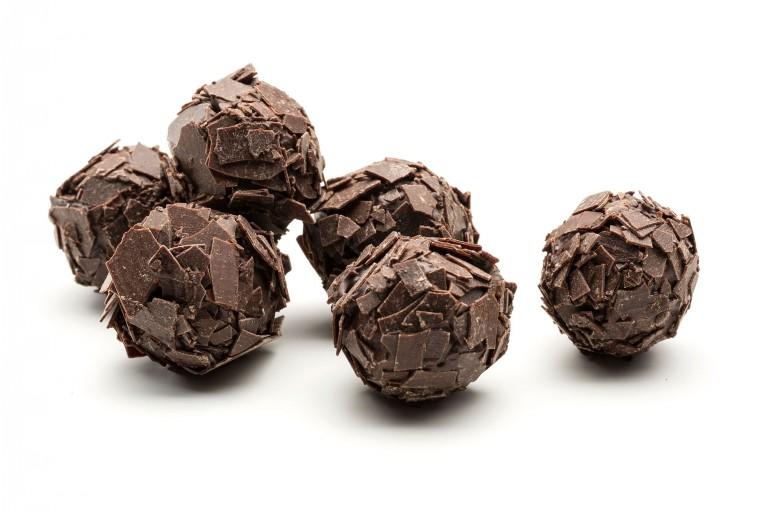 Rich dark chocolate truffle