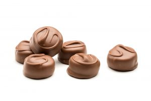 Strawberry creams in milk chocolate