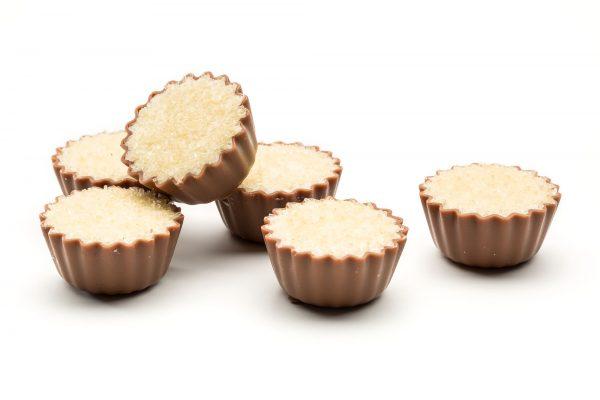 delicious creamy creme brulee chocolates