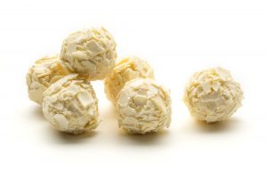 handmade white chocolate truffle