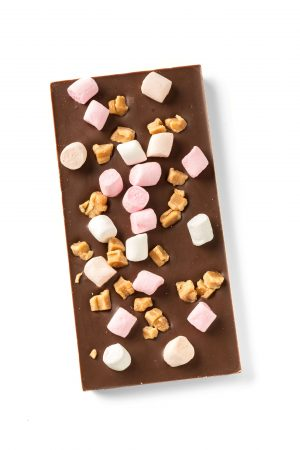 milk chocolate with fudge and marshmallows