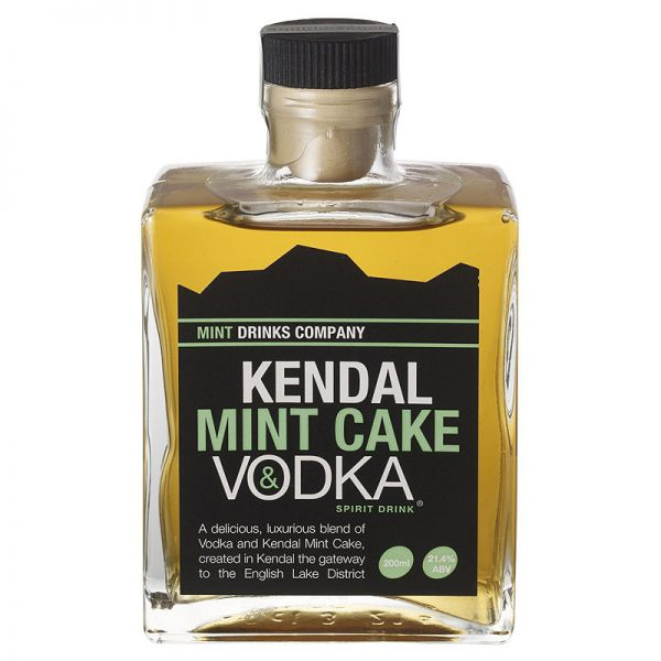 20cl vodka flavoured with Kendal Mint Cake