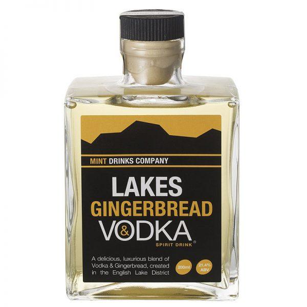 20cl glass bottle of lakes gingerbread vodka