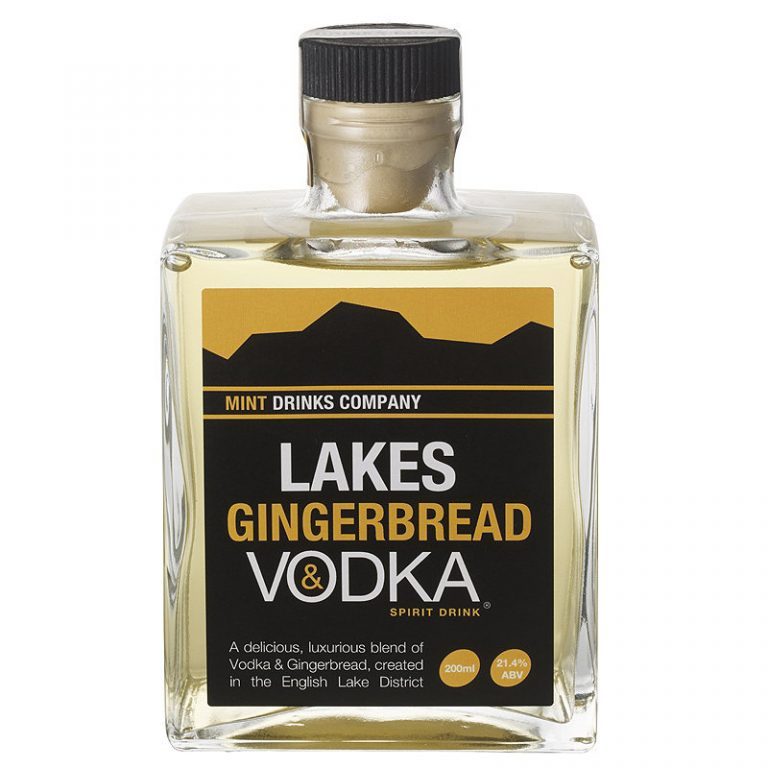 20cl glass bottle of lakes gingerbread vodka