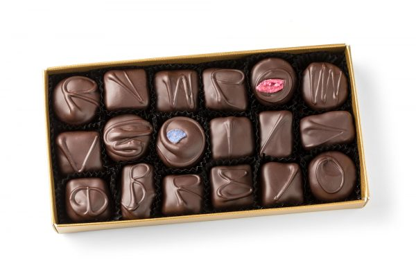 traditional dark chocolate cream box selection