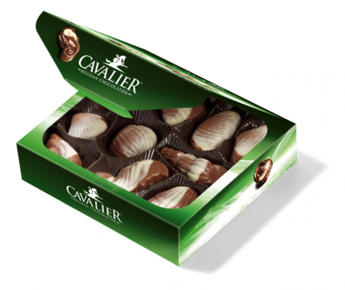 125g Reduced sugar chocolate sea shells sweetened with stevia