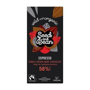 Dark chocolate espresso vegan bar