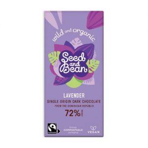 Lavender vegan dark chocolate bar