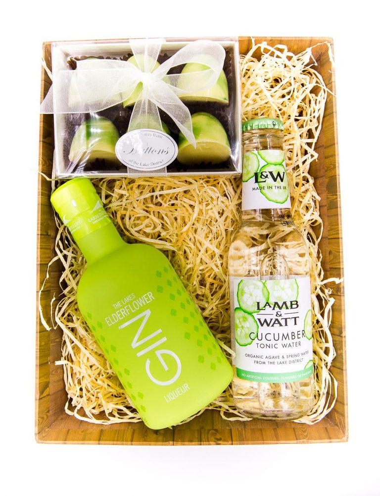 Elderflower gin and tonic hamper